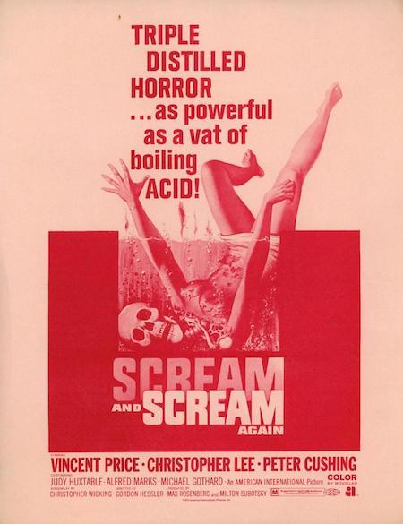 SCREAM AND SCREAM AGAIN (1970) movie poster