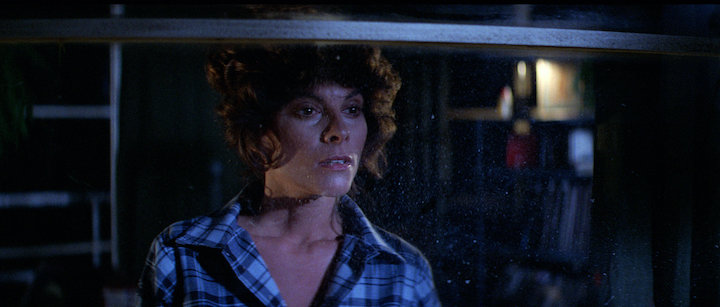 THE FOG (1980) Adrienne Barbeau prepares to sing somewhere out there. it's incredible.