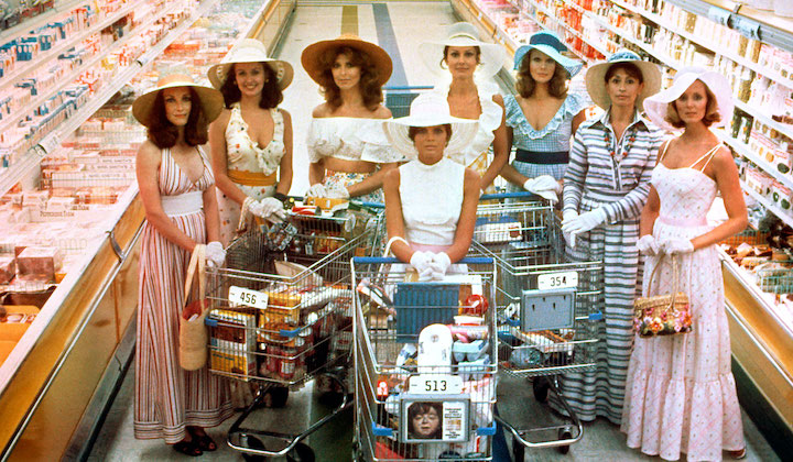 THE STEPFORD WIVES (1975) Katherine Ross and her new friends enjoy the freedom of capitalism