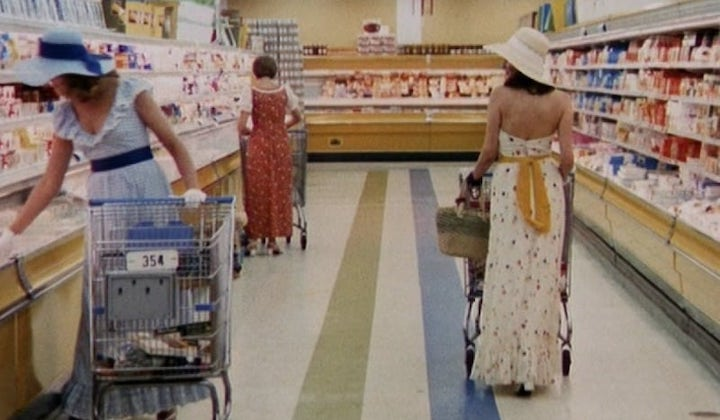 THE STEPFORD WIVES (1975) attention shoppers all individualism currently on sale in aisle 3