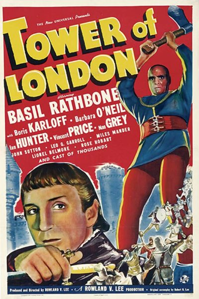 Universal Horror: TOWER OF LONDON poster