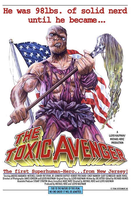 THE TOXIC AVENGER (1984) movie poster