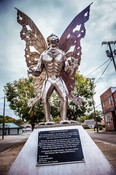 Actual Mothman Statue in Point Pleasant, WV