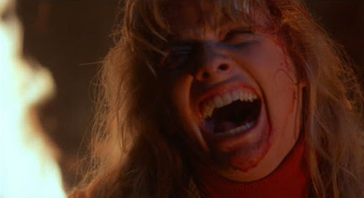 Barbara Crampton in FROM BEYOND (1986) guess you had to be there