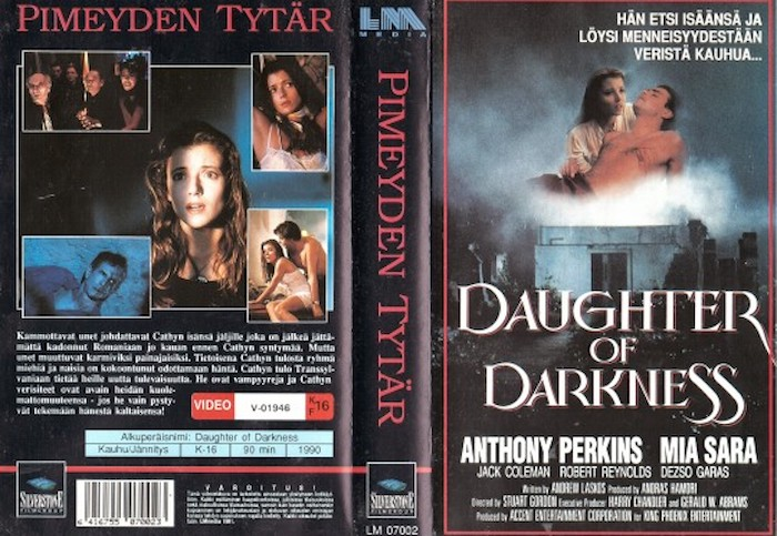 DAUGHTER OF DARKNESS (1990) VHS cover