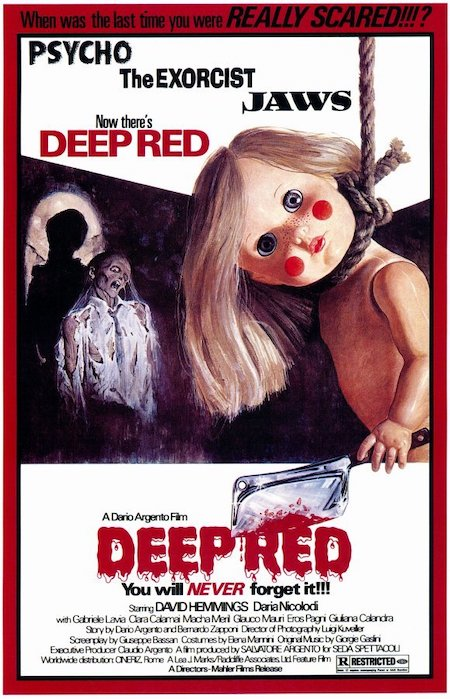 DEEP RED (1975) movie poster