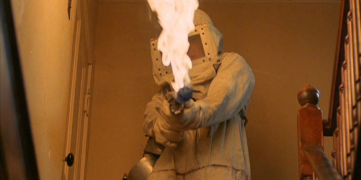 DON'T GO IN THE HOUSE flamethrower suit