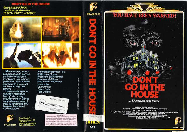 DON'T GO IN THE HOUSE video cover