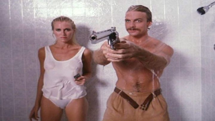 MALIBU EXPRESS (1985) reminds you to always use the buddy system in the shower