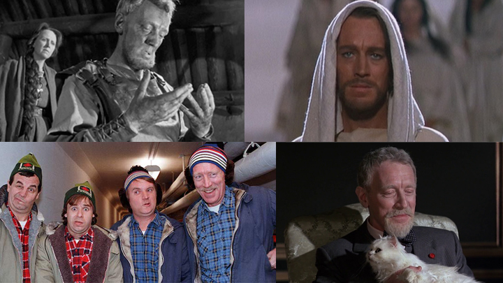 Max von Sydow in THE VIRGIN SPRING, THE GREATEST STORY EVER TOLD, STRANGE BREW, and NEVER SAY NEVER AGAIN
