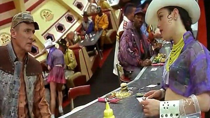 SPACE TRUCKERS (1996) Dennis Hopper and Debi Mazar