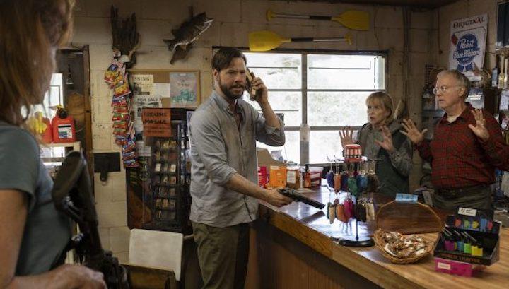 THE HUNT (2020) Ike Barinholtz, Amy Madigan, Reed Birney