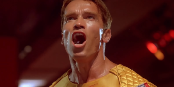 THE RUNNING MAN (1987) Arnie Objects