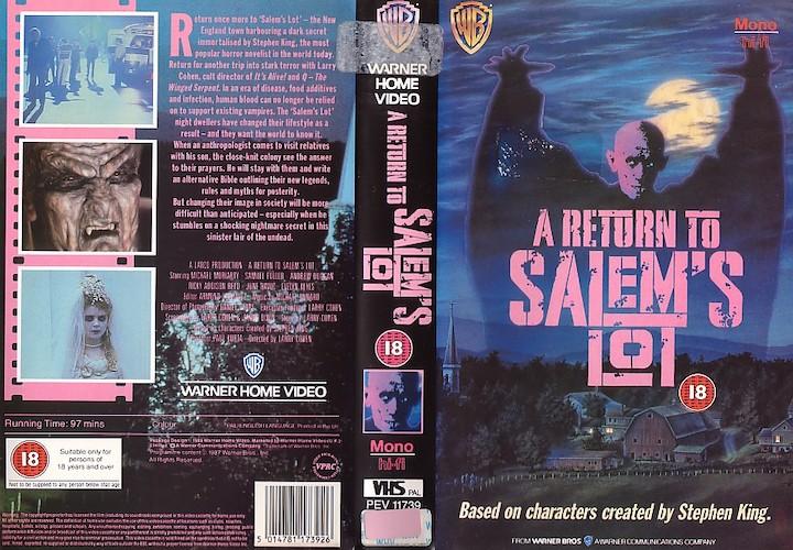 A RETURN TO SALEM'S LOT (1987) VHS case