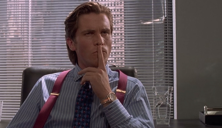 AMERICAN PSYCHO (2000) the metrics come from up here