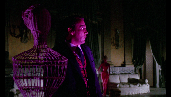 BLOOD AND BLACK LACE (1964) Like Vicki Vale Cameron Mitchell loves purple