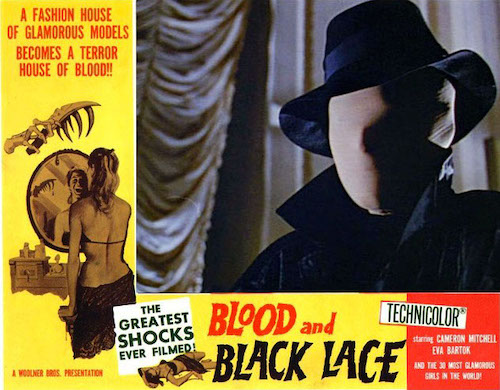BLOOD AND BLACK LACE (1964) movie poster A