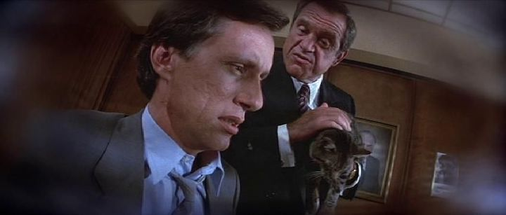 CAT'S EYE (1985) James Woods, Alan King, and General are all confused by what they are doing here
