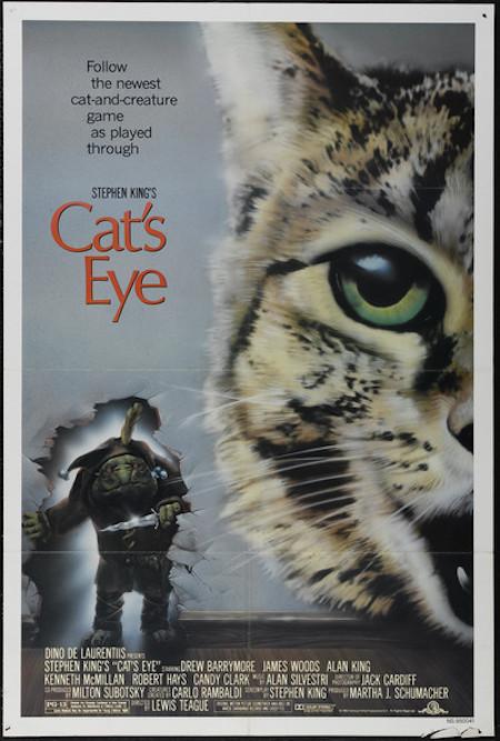 CAT'S EYE (1985) movie poster