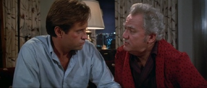 CAT'S EYE (1985) the guy from AIRPLANE! and Baron Harkonnen sit down for a bit of a chat
