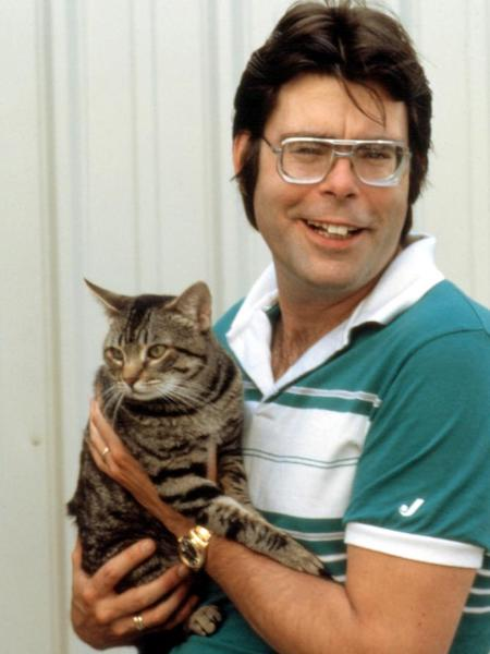 CAT'S EYE (1985) the star and Stephen King pose together
