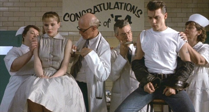 CRY-BABY (1990) Amy Locane and Johnny Depp prove there's no vaccine against falling in love