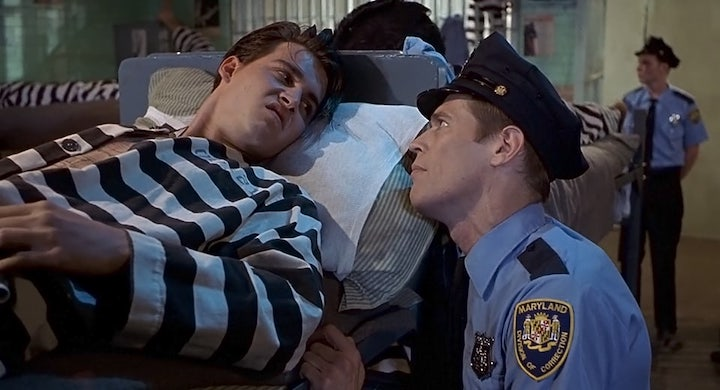 CRY-BABY (1990) Johnny Depp refuses to admit he is fond of Willem Dafoe's lobster
