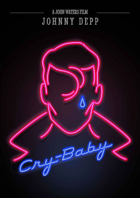 CRY-BABY (1990) fan made movie poster