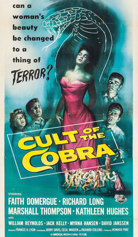 CULT OF THE COBRA (1955) movie poster b