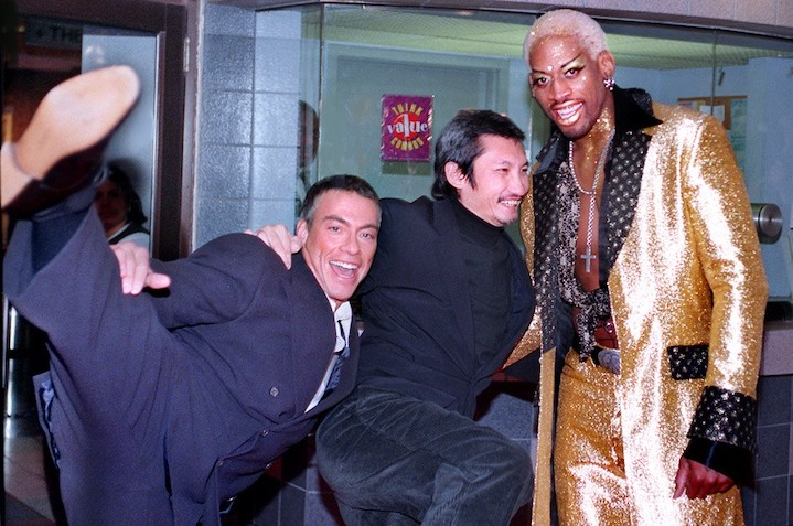 DOUBLE TEAM (1997) JCVD, Tsui Hark, Dennis Rodman at the premiere...and they were never heard from again