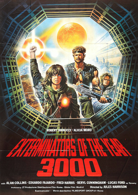 EXTERMINATORS OF THE YEAR 3000 movie poster