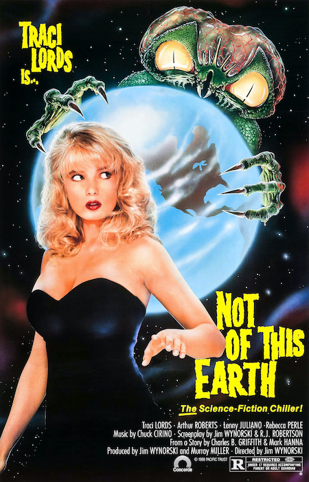 NOT OF THIS EARTH (1988) movie poster