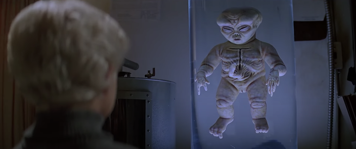 VILLAGE OF THE DAMNED (1995) Thomas Dekker and a naked Teddy Ruxpin