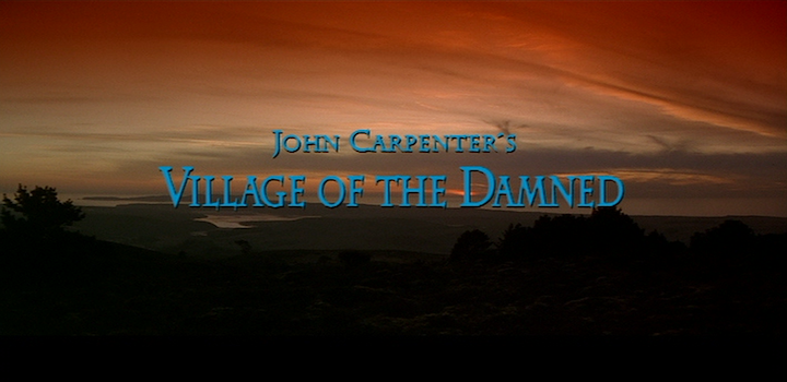 VILLAGE OF THE DAMNED (1995) title screen