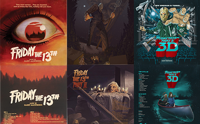 FRIDAY THE 13TH Waxwork Records Covers (Part 1 Through 3)