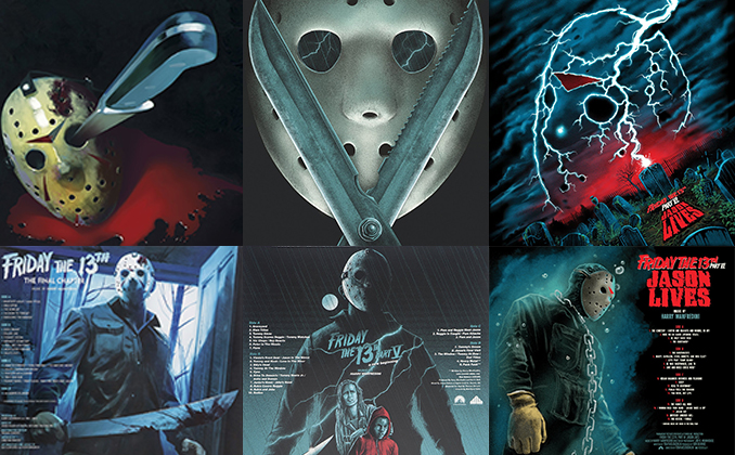 FRIDAY THE 13TH Waxwork Records Covers (Part 4 Through 6)
