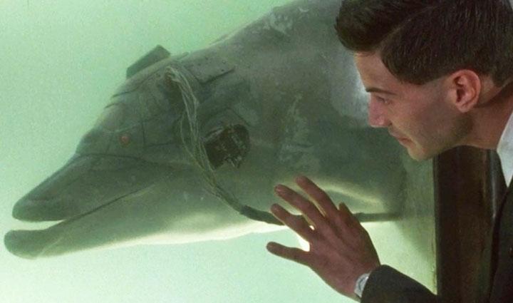 JOHNNY MNEMONIC (1995) dolphin safe cyberpunk