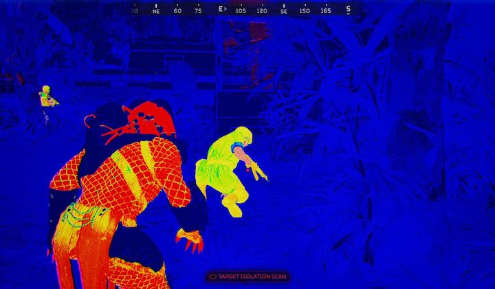 Predator: Hunting Grounds (2020) heat vision and jacked